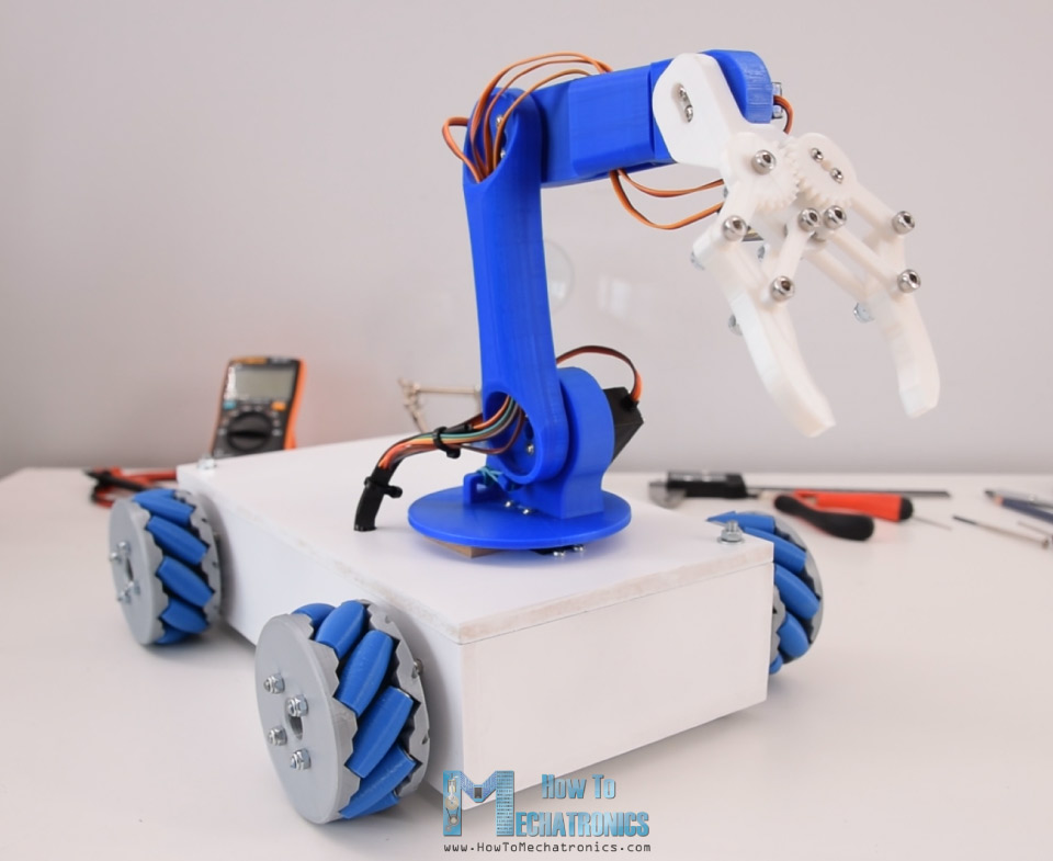 Arduino Mecanum Wheels Robot And Robot Arm
