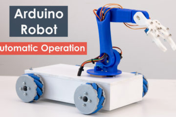 Arduino Robot Arm and Mecanum Wheels Platform Automatic Operation Project