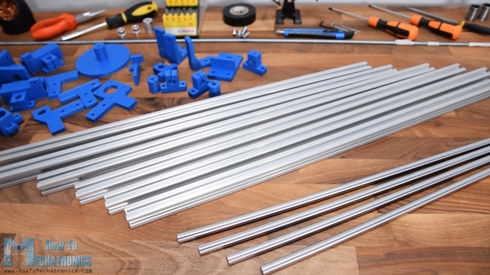 Materials needed for building the CNC Machine