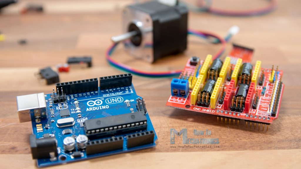 Arduino Uno and Arduino CNC Shield