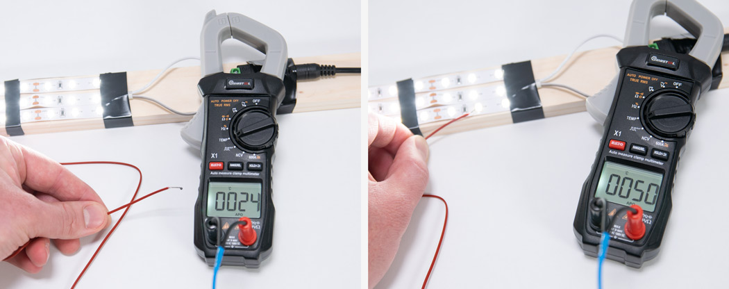 Measuring temperature with the Mustool X1 clamp meter