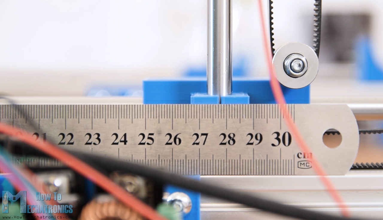 Setting the steps per mm parameter for CNC machine