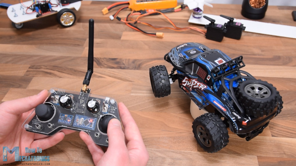Controlling commercial RC car model with DIY Arduino RC Receiver