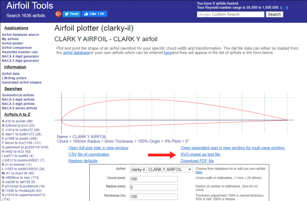 CLARK Y Airfoil for my DIY RC Airplane