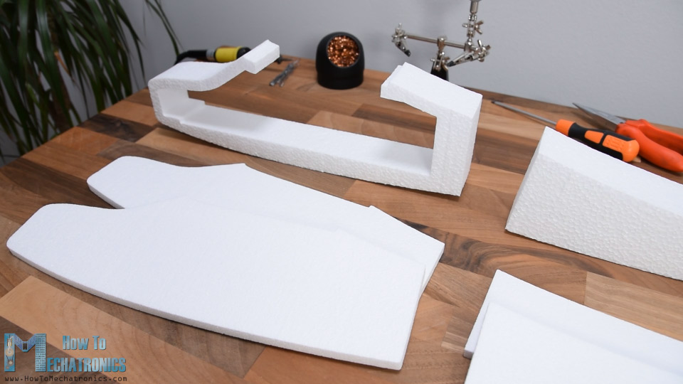 DIY RC Airplane parts made out of Styrofoam and CNC hot wire machine