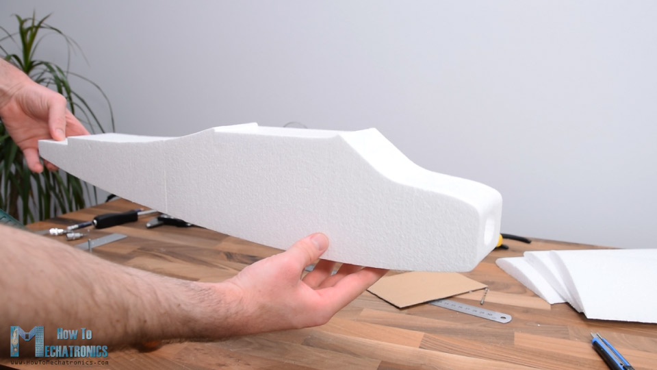 RC Airplane Fuselage made out of Styrofoam
