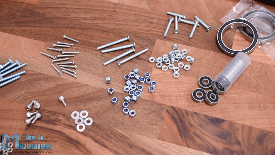 Bolts and Nuts for completing the Harmonic Drive assembly