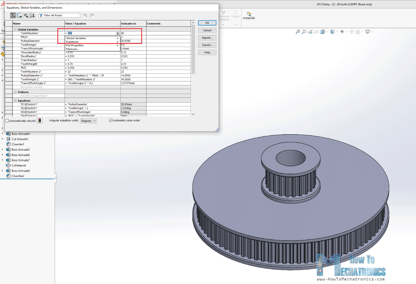 GT2 Pulley with Parametric Design