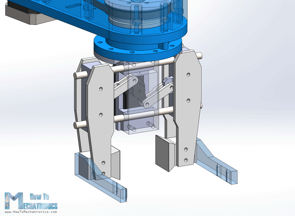 Gripper Mechanism for Robots - 3D Model