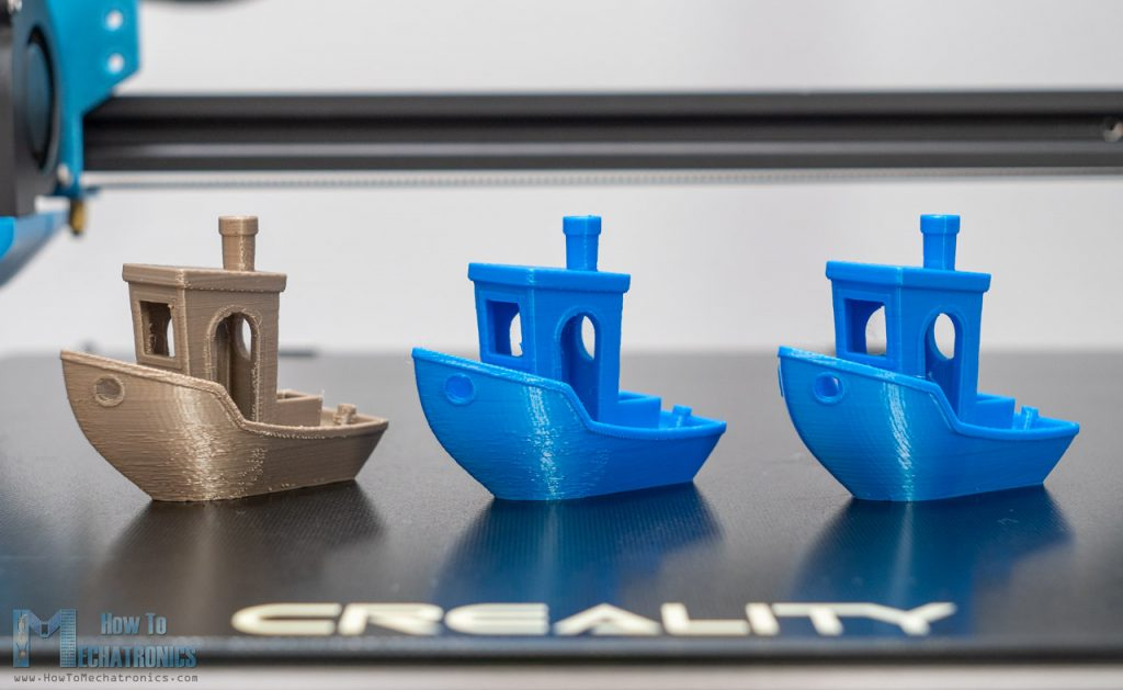 3DBenchy 3D print result on CR-10 V3 - From bad to excellent