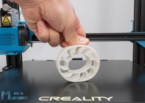 Flexible Wheel 3D printed with Flexible Filament on CR-10 V3 Direct Drive Extruder