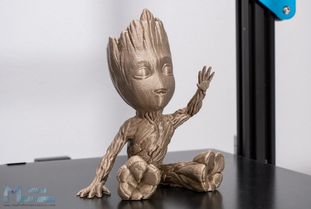 Waving Groot 3D Printed with Creality CR-10 V3
