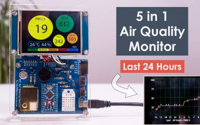 DIY Air Quality Monitor - PM2.5, CO2, VOC, Ozone, Temp & Hum Arduino Meter