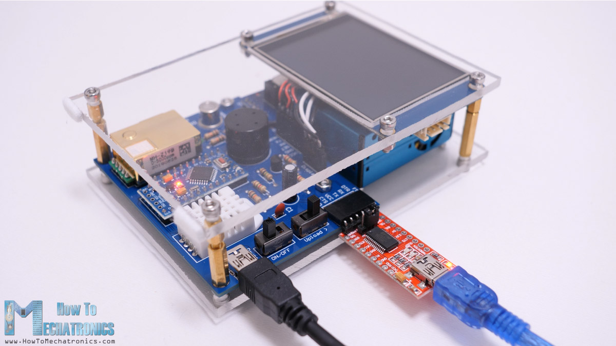 Programming the Arduino Air Quality Monitor - Uploading a sketch using a FTDI