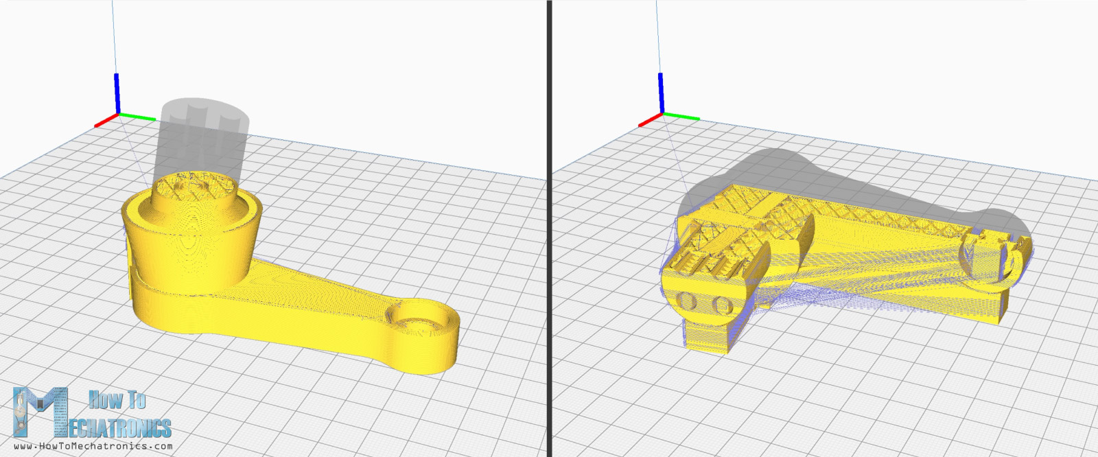 3D printing orientation defines the part strength