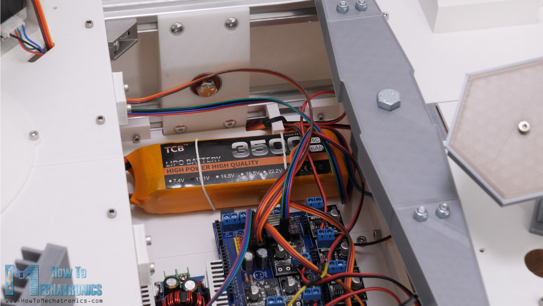 3S LiPo battery for powering the rover