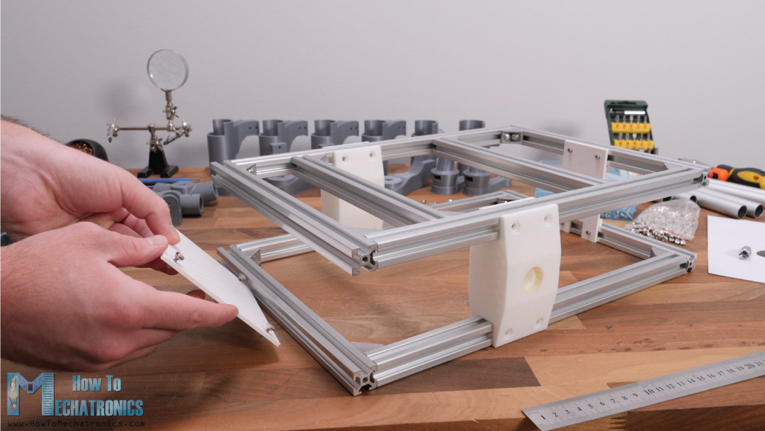 Assembling the rover chassis