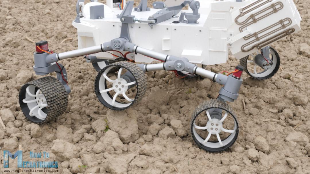 DIY Mars rover with Rocker-bogie suspension