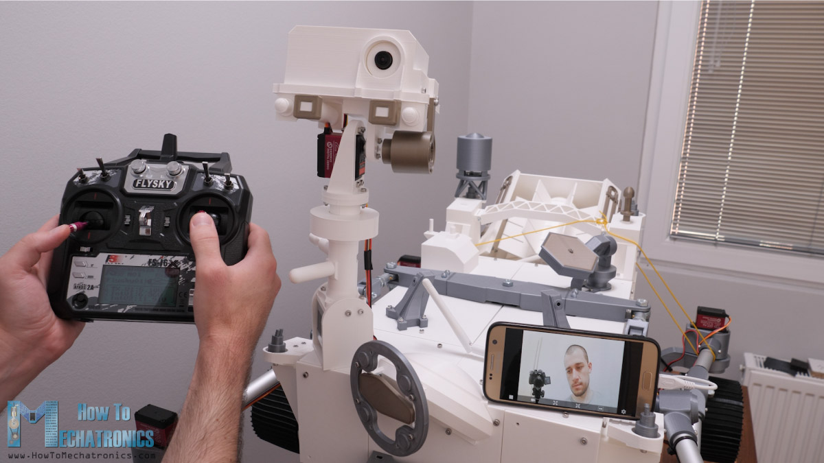 FPV camera transmitting real time footage to a smartphone