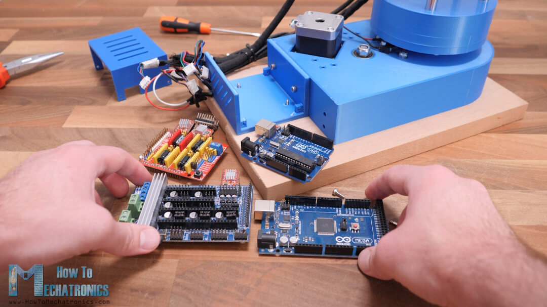 Arduino MEGA and RAPMS instead of Arduino UNO and CNC Shield for SCARA Robot Laser Engraver control