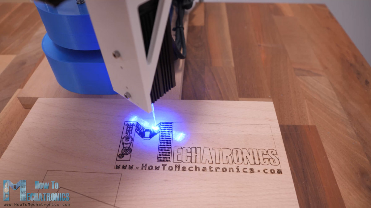 Laser engraving with SCARA Robot - How To Mechatronics