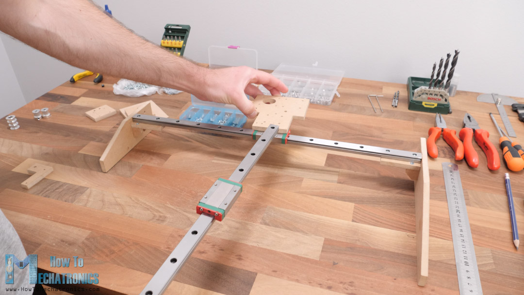 Assembling the Y-axis of the machine