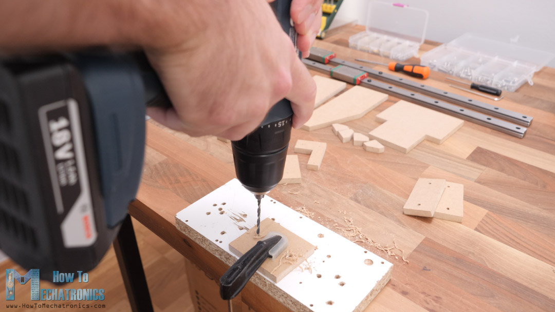 Drilling the MDF board with 3mm drill