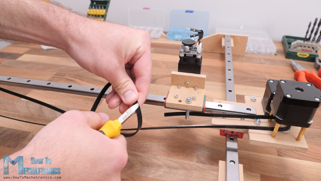Installing the GT2 Belt for the Y-axis of the DIY CNC Laser Engraver Machine